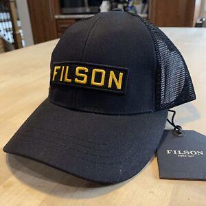 Filson Tin Cloth Mesh Logger Cap - New With Tags - Black