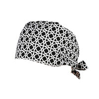 2xUnisex Printed Cotton Surgical Hat Hospital Uniform Hat Bouffant Scrub Cap