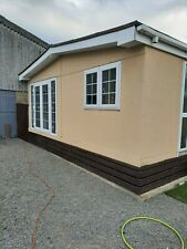 Rough cast Twin Unit Mobile Home. Static Caravan. Park Home