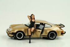 70`s Cool Girl Figur Figuren Hot Rod Racing 1:24 American Diorama I no car