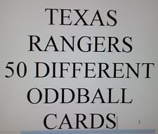 TEXAS RANGERS  - 50 DIFFERENT ODDBALL cards