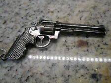 Heavy Metal Gun Police REVOLVER Smith & Wesson Keychain Jewelry Pendant GIFT