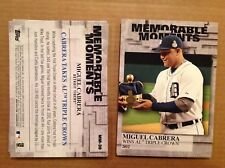 MIGUEL CABRERA #MM-30 TIGERS MVP #ed/49 made 2017 Topps Memorable Moments 5x7