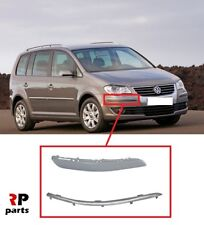 FOR VW TOURAN 2007 - 2010 NEW FRONT BUMPER MOLDING RIGHT O/S WITH CHROME STRIP