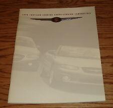 Original 1998 Chrysler Sebring Coupe & Convertible Deluxe Sales Brochure 98