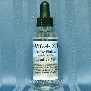 LUMBER MILL Scented Smoke Unit Fluid For MTH O G N Steam Diesel Engines Cabooses