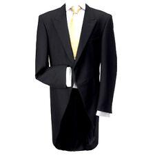 "100% Wool Traditional Black Morning Coat 42"" Regular - Made in the UK"