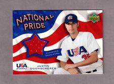 2004 UPPER DECK NATIONAL PRIDE MEMORABILIA 2 JERSEY card  JUSTIN DUCHSCHERER