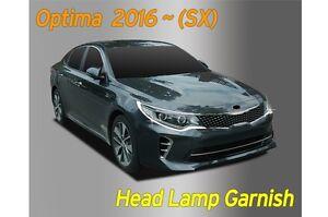 Head Lamp Garnish Chrome Molding Trim Cover 2P D832 for KIA 2016~2018 Optima SX