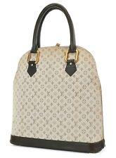Auth LOUIS VUITTON Alma Haut Brown Monogram Mini Lin Hand Bag Purse #37240