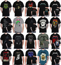 Metallica Graphic Tees Solid T-Shirts for Men