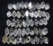 55g 50PCS Pretty Top Quality Herkimer Diamond Quartz Crystal Point Specimen
