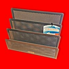 GUN-METAL SILVER MESH LETTER SORTER ORGANISER DESK TIDY OFFICE HOLDER RACK TRAY