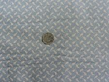 100% Cotton Fabric - Benartex - Tan Paisley Design on Muted Blue - By The Yard