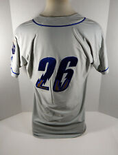 2019 Omaha Storm Chasers #26 Game Used Grey Jersey OSC0004