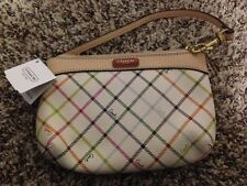 Coach Peyton Tattersall Medium Wristlet Wallet Multicolor F49293 NEW WITH TAG