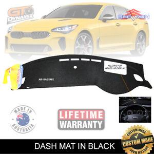 "Dash Mat for Kia Stinger CK ""with HUD"" S GT Si GT-Line 9/2017-2019 Black DM1472D"