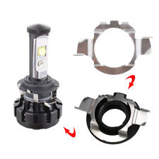 2pcs H7 LED Headlight Bulb Retainers Holder Adapter For Benz BMW Audi VW Buick