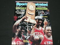 1983 NC State Basketball Championship Team 12 Signed 11x14 Photo BECKETT BAS COA