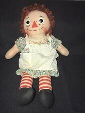 "Vintage Knickerbocker RAGGEDY ANN DOLL 15"""