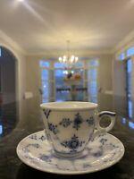 Royal Copenhagen  Blue Fluted Plain a Cup and Saucer(espresso) Little Spot