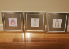 X3 BRAND NEW WALL PRINTS HOME,HANGING,DISPLAY,FRENCH PROVINCIAL. PERFUME