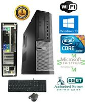 Dell PC DESKTOP Intel i7 2600 3.40g 16GB  NEW 1TB HD Windows 10 Pro DVI Wifi
