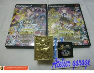 USED SONY PS2 Saint Seiya 2 Set + Limited Sagittarius Memory Card Case Japanese