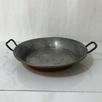 Vintage Copper And Tin Gratin Pan  Made In France