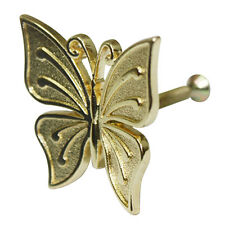 10 pcs Gold Solid Metal Butterfly Knobs Cabinet Drawer Pulls Handles Hhy203