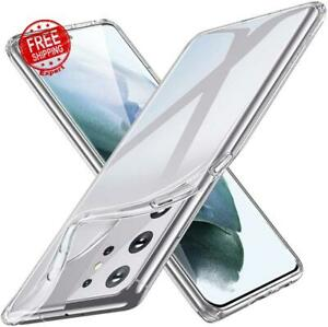 Case For Samsung Galaxy S21 Ultra Flexible Transparent Slim Cover Crystal Clear