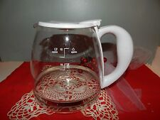 Black & decker glass 12 cup WHITE coffee caraffe pot  for DE755 coffee maker