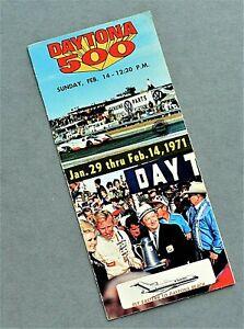 ORIGINAL 1971 DAYTONA 500 - 24 HOURS OF DAYTONA TICKET BROCHURE ~ 10 PGS ~ %500