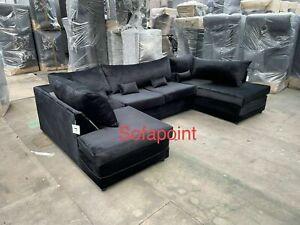 Plush velvet U Shape Fabric Corner Sofa   Good quality brand new