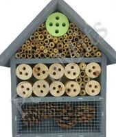 INSECT HOTEL - Wooden Wildlife Home Wood Pine Cone PawMits Hanging kf House