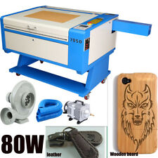 80W CO2 USB Laser Engraving Cutting Machine 700x500mm 1000 DPI Up and down Table