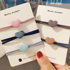 Cute Hair Accessories Women Heart-shaped Hair Tie Rope High Elastic Hair Ring-