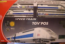 HO MEHANO TGV POS HIGH SPEED TRAIN SET LOCO & 2 PASS CARS #58571 & T103
