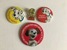 Disney 101 Dalmatians - Set of 4 Pins Buttons - WDCC - Happy Birthday - Dog