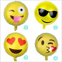 Foil Emoji Face Balloons Helium Party Decor Toy Birthday Heart Kids funny Pannu