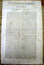 1703 London Gazette newspaper British ship convoy returns to England frm Jamaica