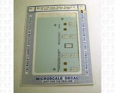 Microscale HO Decals Union Pacific Loco Safety Plaques For Hood Diesel MC-4071