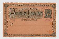 Republic of Honduras,C.A.Postal Card,Pre-Printed Honduras Stamp,Used,c.1904