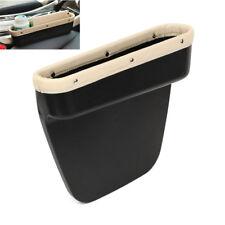 Universal Beige Autositz Aufbewahrung Tasche Armlehne Ablagefach Box PU Leder 1x