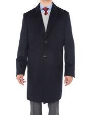Luciano Natazzi Italian Mens Cashmere Overcoat Knee Length Trench Coat Topcoat