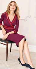 Boden Ponte Mulled Wine Dress UK 10 R