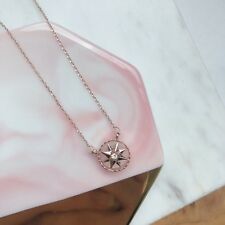 New! Hexagram Opal Stone 18K Rose Gold Plated Necklace