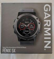 Garmin Fenix 5X Slate Gray Sapphire Black Band Gps Multisport Watch