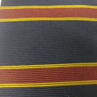 Brooks Brothers Makers Silk Neck Tie Men's Navy Burgundy & Gold Stripes