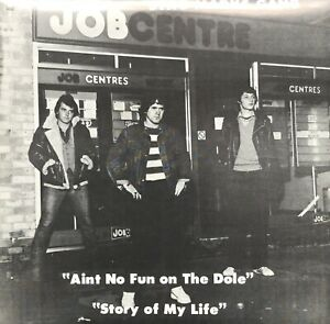 """STAG MARKS GANG AINT NO FUN ON THE DOLE/STORY OF MY LIFE 1981 7"""" SINGLE RECORD"""